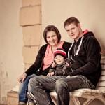Familie auf Schloss Friedenstein Regen & Co.